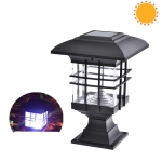 Solar Pillar Light Outdoor Waterproof Decorative Garden Lawn Wall Lamp(White Light)