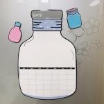 Wishing Bottle Wall Sticker Message Board Magnetic Schedule Refrigerator Sticker