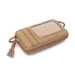 Outdoor Running Multi-functional Coin Purse Travel Waterproof Leisure Card Bag(Tan)