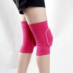 Rose Red Children Thick Anti-collision Sponge Knee Pads Sports Protective Gear, SIZE:M