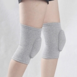 Gray Gray Edging Children Thick Anti-collision Sponge Knee Pads Sports Protective Gear, SIZE:M