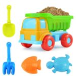 3 PCS 5 in 1 Children Beach Car Sand Dredging Tool Beach Toy Set(As the picture shows)