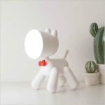 Creative Variety Puppy Desk Lamp Student Bedroom Reading LED Light USB Bedside Night Light(White)