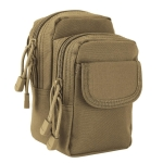 Small Pocket Gadget Belt Waist Bag Phone Bag Holster(Brown)