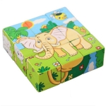 Children Intellectual Early Education Building Blocks Toy 3D Puzzle Block(598 Forest Rhino)
