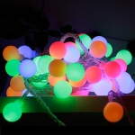 LED Waterproof Ball Light String Festival Indoor and Outdoor Decoration, Color:Colorful 52 LEDs -EU Plug