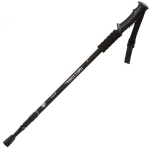 NECASIL Three-section Aluminum Alloy Straight Handle Retractable Trekking Trekking Pole(Black)