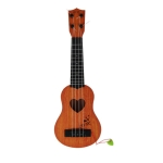 Children Simulation Musical Educational Toy Playable Ukulele Small Guitar(Mahogany)