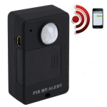 Mini PIR Alert Sensor Wireless Infrared GSM Alarm Monitor Motion Detector Detection Home Anti-theft System, EU Plug
