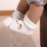 Baby Three-dimensional Socks Thickened Terry Loose Baby Socks Newborn Fleece Socks, Size:0-24 Months(White)