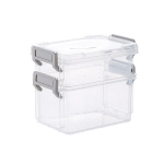Desktop Transparent Covered Storage Box Sundries Organizing Storage Box, Layer:Two Layers(Gray)