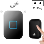 CACAZI FA88 Self-Powered Smart Home Wireless Doorbell, EU Plug(Black)