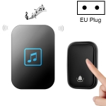 CACAZI FA86 Self-Powered Smart Home Wireless Doorbell, EU Plug(Black)