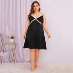Lace Dress Big Yards (Color:Black Size:XL)