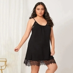 Lace Lace Pajamas Sling Lingerie (Color:Black Size:XL)