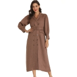 Autumn Niche Suit Dress (Color:Brown Size:M)