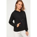 Loose Pullover Casual Sweatshirt (Color:Black Size:S)