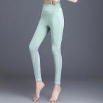 Women Super Stretch Back Cross Yoga Pants (Color:Green Size:L)