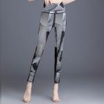 Women Super Stretch Back Cross Yoga Pants (Color:Light Grey Size:S)