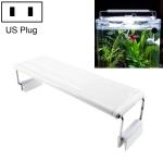XY-20K Aquarium Glass Fish Tank LED Aquatic Bracket Lamp, US Plug(White)
