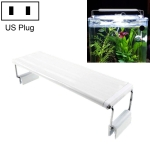 XY-60K Three Rows Aquarium Glass Fish Tank LED Aquatic Bracket Lamp, US Plug (White)