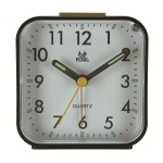 Square Mute Alarm Clock Mini Bedside Office Electronic Clock(Black)