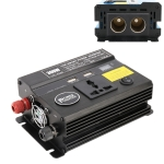 300W DC 24V to AC 220V Car Multi-functional 4488 Smart Power Inverter(Black)