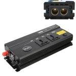 650W DC 12V to AC 220V Car Multi-functional 4988 Smart Power Inverter (Black)