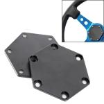 2 PCS Universal Aluminum Car Steering Wheel Hub Base