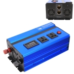 1000W DC 24V to AC 220V Car Multi-functional Pure Sine Wave Power Inverter, Random Color Delivery
