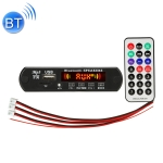 Car 12V 2x3W Audio MP3 Player Decoder Board FM Radio TF USB 3.5mm AUX, with Bluetooth / Recording Call Function / Power Amplifier / Remote Control