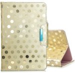 For 7 inch Universal Tablet Solid Color Wave Point Horizontal Flip Leather Case  , with Holder(Golden)
