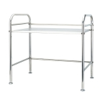 Multi-functional Kitchen Daily Stainless Steel Storage Rack Microwave Oven Rack, Size:60cm Single Layer