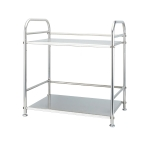 Multi-functional Kitchen Daily Stainless Steel Storage Rack Microwave Oven Rack, Size:40cm Double Layer