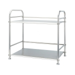Multi-functional Kitchen Daily Stainless Steel Storage Rack Microwave Oven Rack, Size:50cm Double Layer