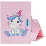 For iPad Air / Air 2 / Colored Drawing Pattern Horizontal Flip Leather Case with Holder & Card Slot & Wallet(Cute Unicorn)