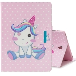 For Galaxy Tab S4 10.5 T830 Colored Drawing Pattern Horizontal Flip Leather Case with Holder & Card Slot & Wallet(Cute Unicorn)