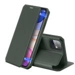 iPhone 11 DUX DUCIS Skin X Series PU + TPU Horizontal Flip Leather Case with Holder & Card Slots(Dark Green)