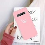 For Galaxy S10+ Little Pig Pattern Frosted TPU Protective Case(Pink)