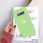 For Galaxy S10e Little Pig Pattern Frosted TPU Protective Case(Green)