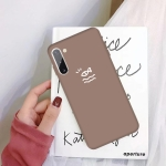 For Galaxy Note10 Little Fish Pattern Frosted TPU Protective Case(Khaki)