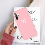 For Galaxy Note10+ Little Fish Pattern Frosted TPU Protective Case(Pink)