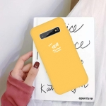 For Galaxy S10+ Little Fish Pattern Frosted TPU Protective Case(Yellow)