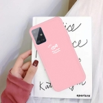 For Galaxy A51 Little Fish Pattern Frosted TPU Protective Case(Pink)