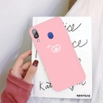 For Galaxy A30 Little Fish Pattern Frosted TPU Protective Case(Pink)