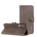 For Moto G8 Power KHAZNEH Cowhide Texture PU + TPU Horizontal Flip Leather Case with Holder & Card Slots & Wallet(Grey)