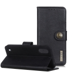 For ZTE A5(2020) KHAZNEH Cowhide Texture PU + TPU Horizontal Flip Leather Case with Holder & Card Slots & Wallet(Black)
