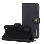 For ZTE A7(2020) KHAZNEH Cowhide Texture PU + TPU Horizontal Flip Leather Case with Holder & Card Slots & Wallet(Black)