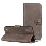 For ZTE A7(2020) KHAZNEH Cowhide Texture PU + TPU Horizontal Flip Leather Case with Holder & Card Slots & Wallet(Grey)