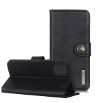For Huawei P40 Pro KHAZNEH Cowhide Texture PU + TPU Horizontal Flip Leather Case with Holder & Card Slots & Wallet(Black)